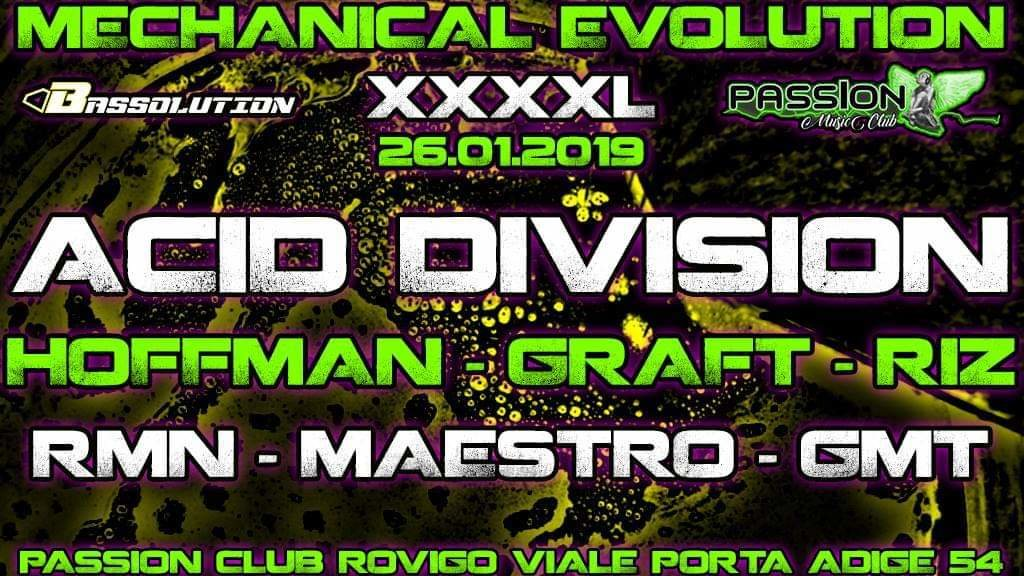 Mechanical Evolution XXXXL Feat. Acid Division Obs Cur 26 Jan '19, 23:00