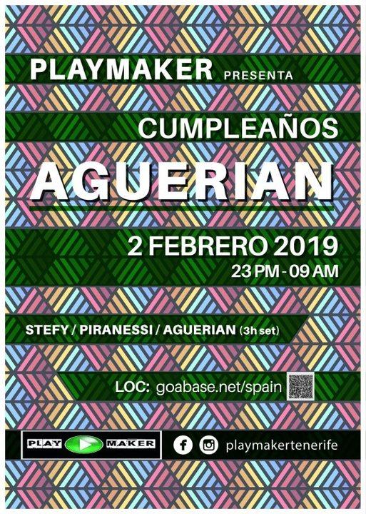 PLAYMAKERS PRESENTS AGUERIAN BIRTHDAY 2 Feb '19, 23:00