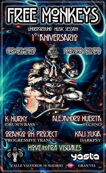 1º Aniversario #UndergroundMusicSession 8 Feb '19, 23:30