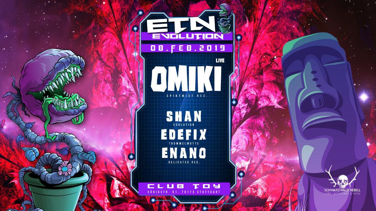 ॐ Evolution Goa w/ Omiki (Spintwist) Live ॐ 8 Feb '19, 23:00
