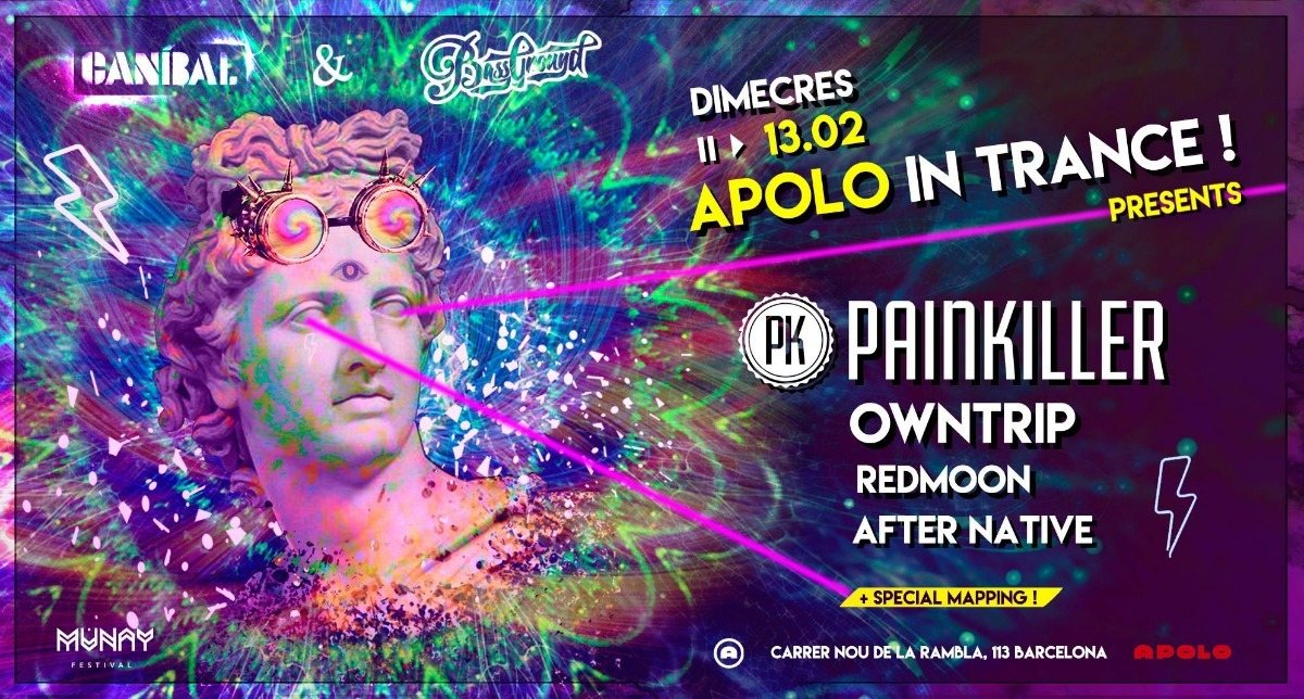 Apolo in Trance: Painkiller 13 Feb '19, 23:30