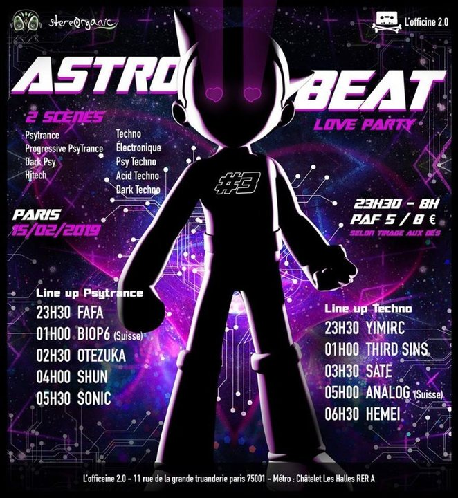Party Flyer · ASTRO BEAT #3 | Love party - Psytrance et