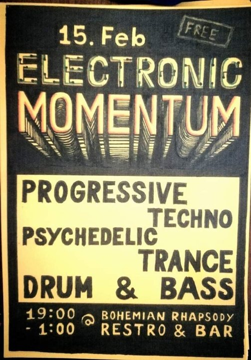 Electronic Momentum 15 Feb '19, 19:00