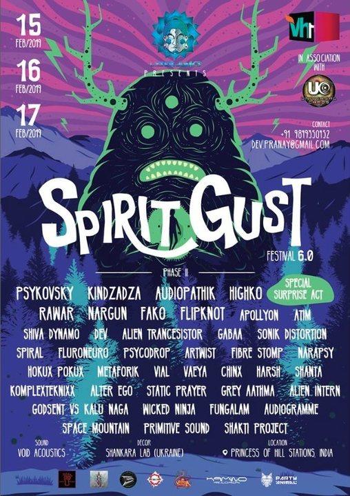 Spirit Gust Festival 6.0 15 Feb '19, 14:00