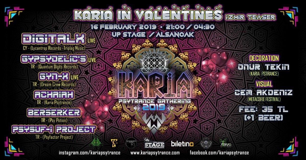 Karia Gathering in Valentines - İzmir Teaser 16 Feb '19, 20:00