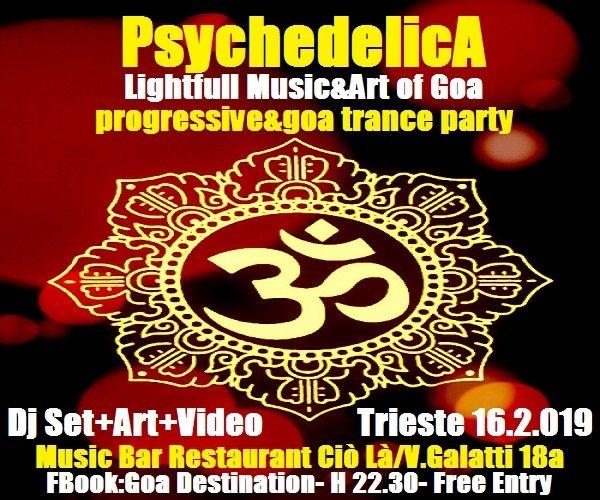 ***PsychedelicA***Lightfull Music&Art of Goa*** 16 Feb '19, 22:30