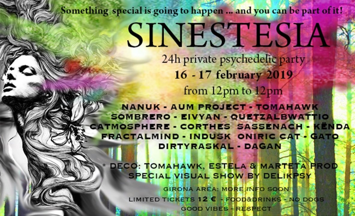 SINESTESIA - 24h Private Psychedelic Party 16 Feb '19, 12:00