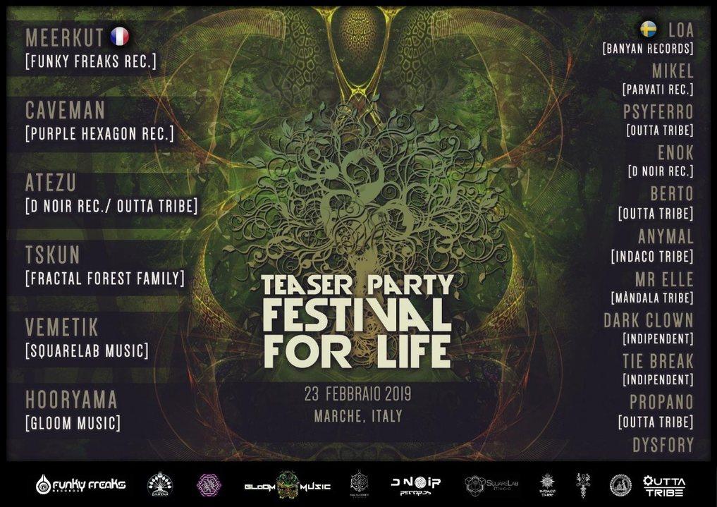 Festival For Life Teaser Party 23 Feb '19, 22:00