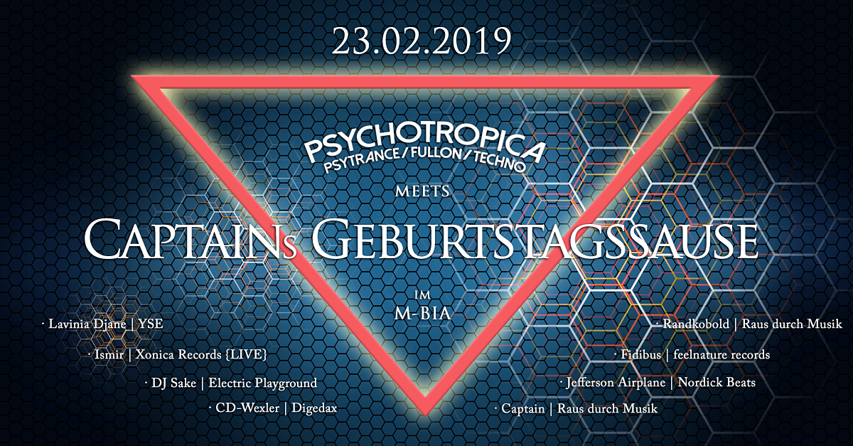 Psychotropica meets Captains Geburtstag 23 Feb '19, 23:00