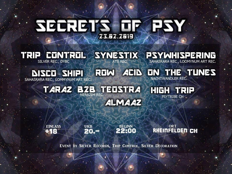 Secrets Of Psy 23 Feb '19, 22:00