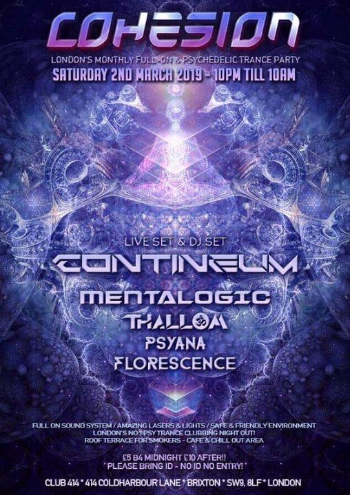 Cohesion PsyTrance Adventure 2 Mar '19, 23:00