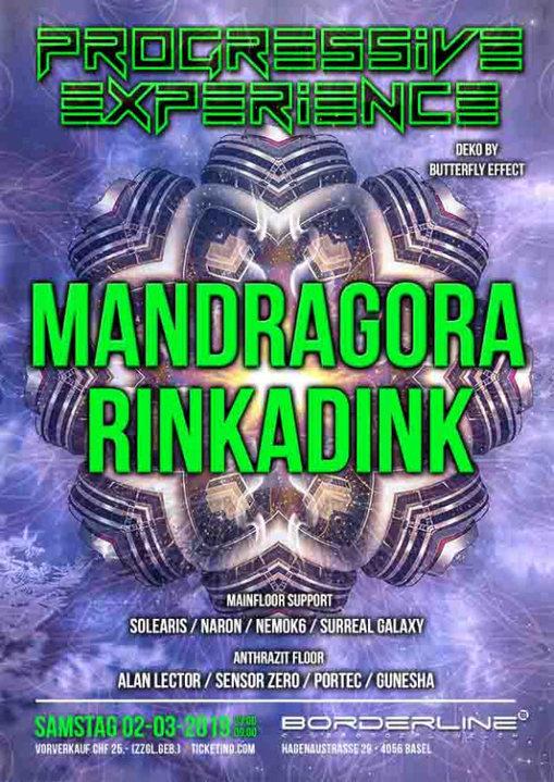 Progressive Experience with Mandragora & Rinkadink 2 Mar '19, 23:00