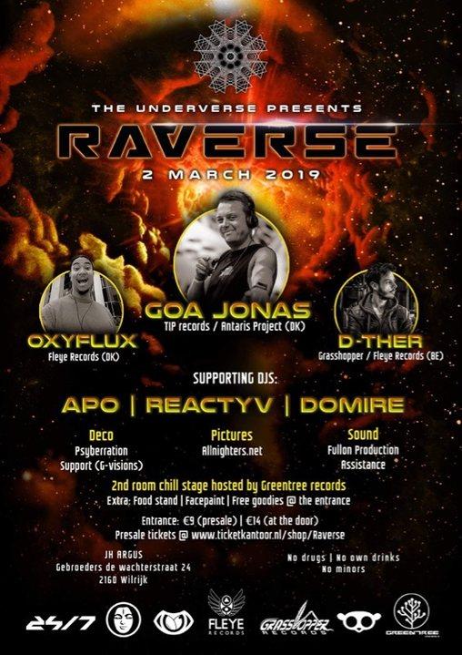 The underverse presents: Raverse | 2 Rooms 2 Mar '19, 23:00