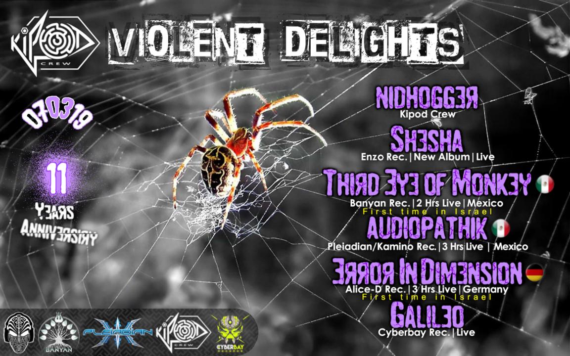 ◄·Kipod Crew·◄►·Violent DelighTs·► 7 Mar '19, 23:30