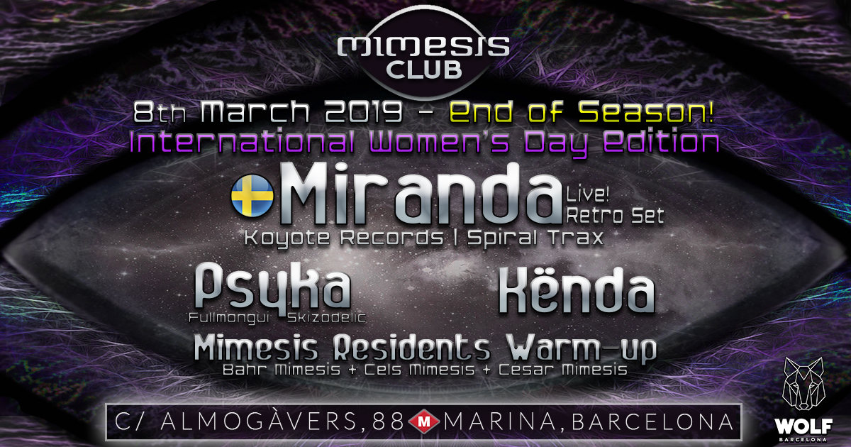 Mimesis CLUB 8 Mar '19, 23:30