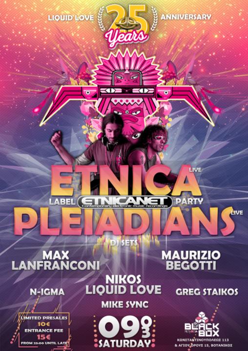 Liquid Love 25 Years Anniversary Etnica-Pleiadians Live 9 Mar '19, 23:00
