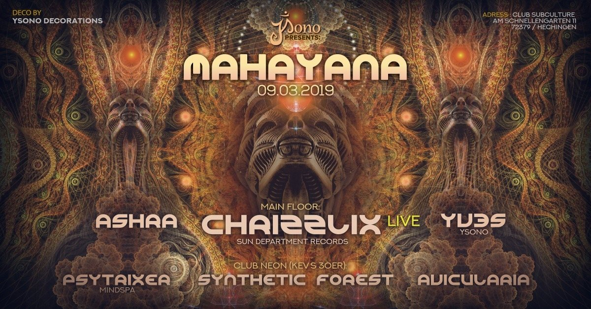 Mahayana with Chrizzlix LIVE & Kev´s Bday 9 Mar '19, 22:00