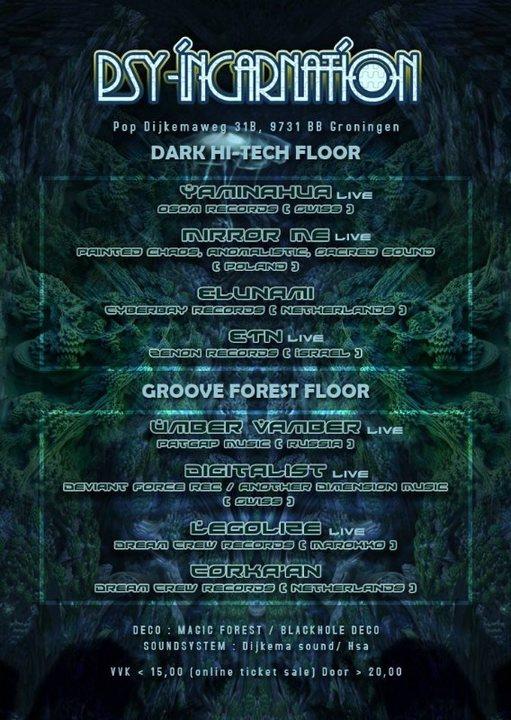 Psy-Incarnation Vol. V Deeper Sound Exploration 9 Mar '19, 22:00