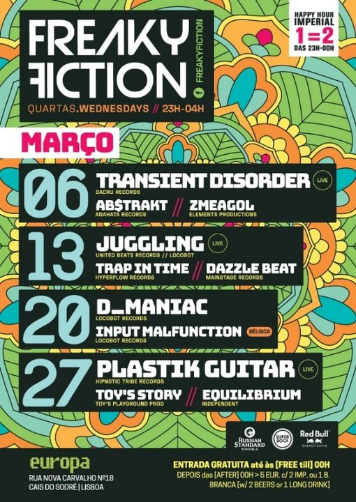 FREAKY FICTION 13 Mar '19, 23:00