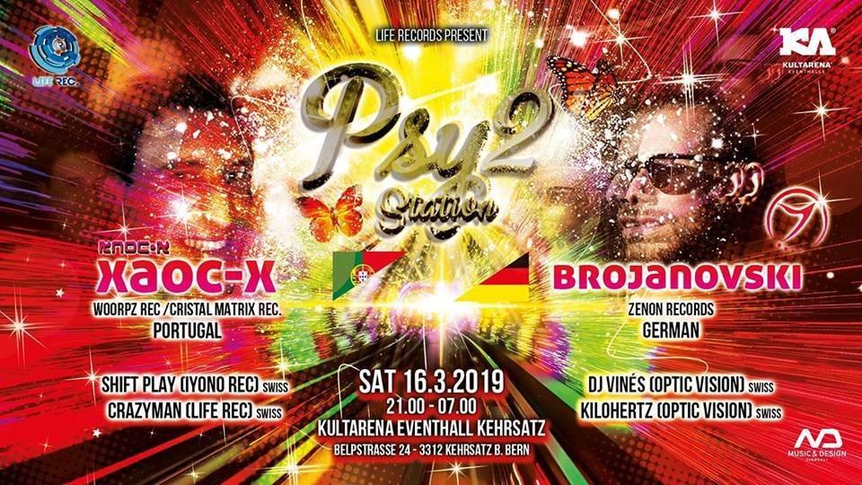 PSY STATION 2 / XAOC-X / BROJANOWSKI 16 Mar '19, 21:00