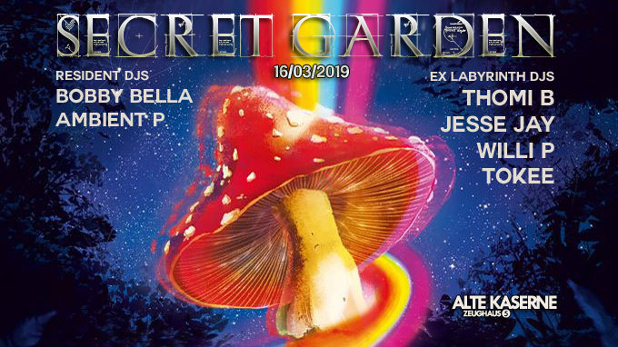 Secret Garden w/ EX Labyrinth DJs 16 Mar '19, 23:00