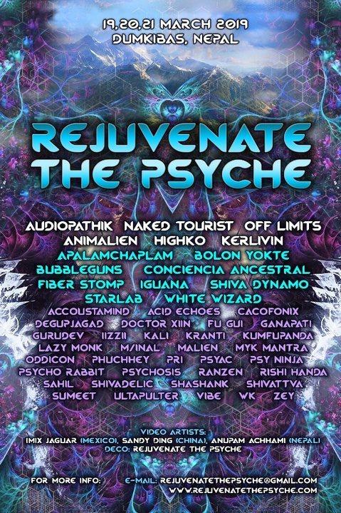 REJUVENATE THE PSYCHE FESTIVAL - 2019 19 Mar '19, 07:00