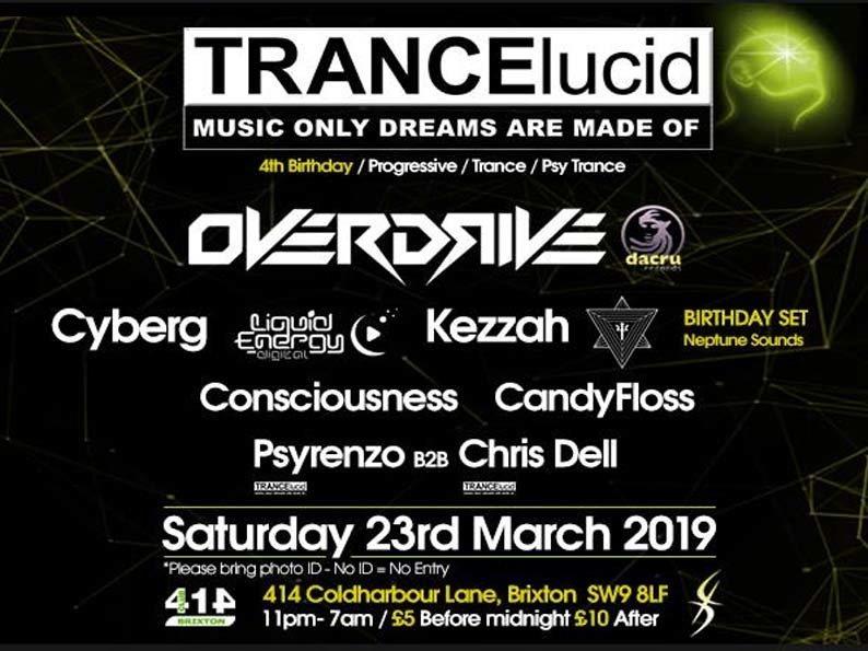TRANCElucid - 4th Birthday 23 Mar '19, 23:00