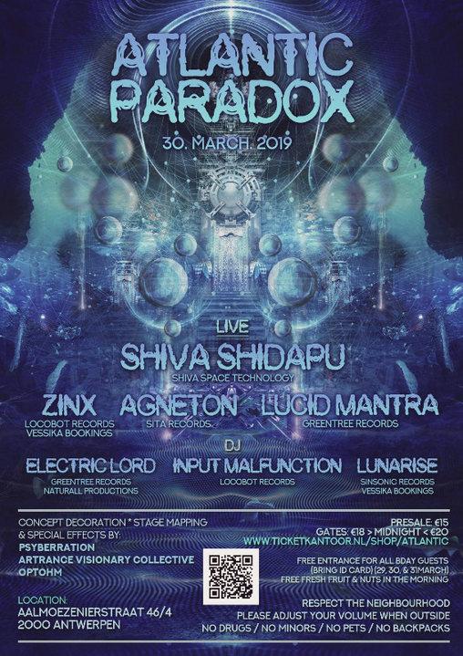 ATLANTIC PARADOX with Shiva Shidapu 30 Mar '19, 23:00