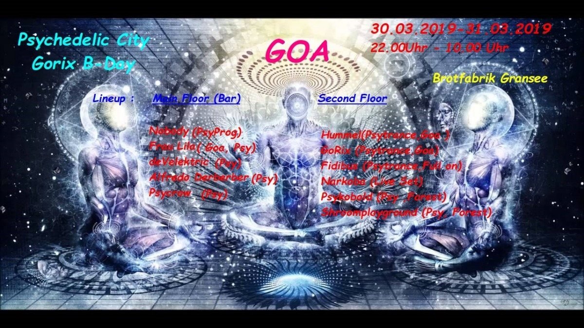 Psychedelic City - GoRix B-day 30 Mar '19, 22:00