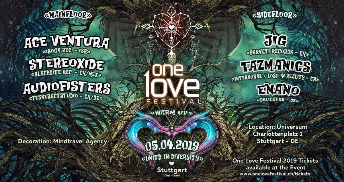 One Love Festival Warm Up w/ Ace Ventura in Stuttgart 5 Apr '19, 23:00
