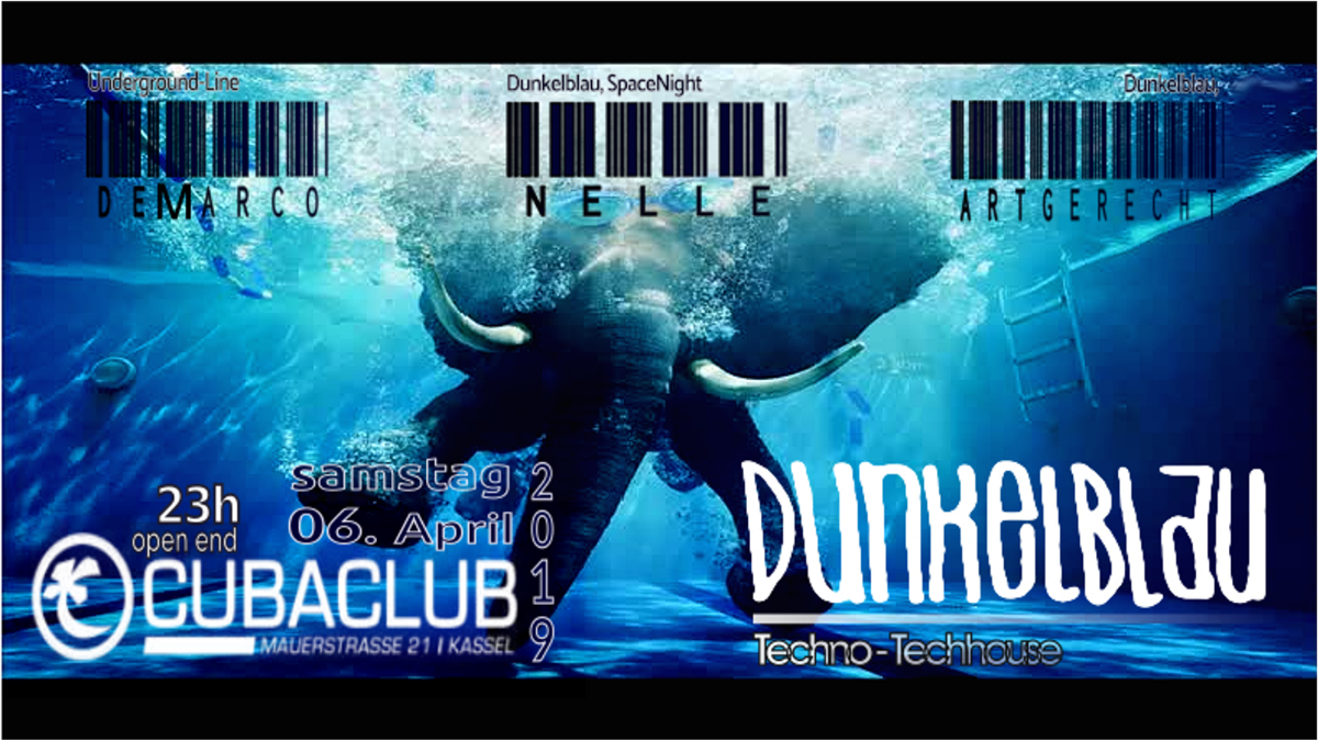 Dunkelblau Techno 6 Apr '19, 22:30
