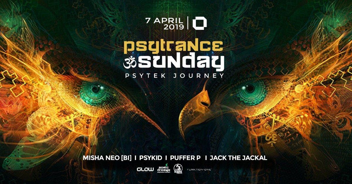 PsyTrance ॐ Sunday at GLOW I Psytek Journey 7 Apr '19, 21:30