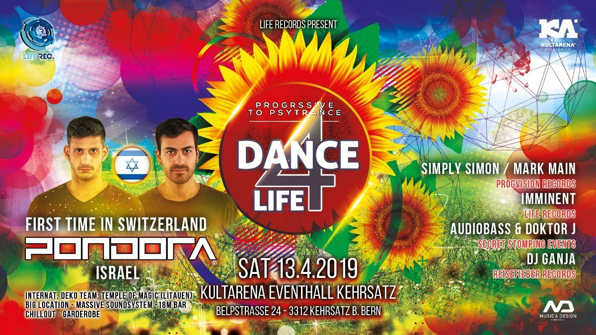 DANCE FOR LIFE / PONDORA 13 Apr '19, 21:00