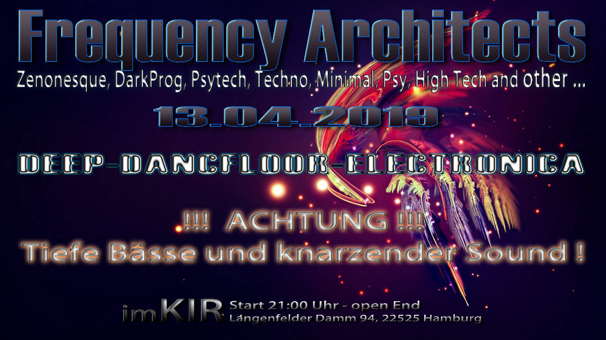 Frequency Architects 13 Apr '19, 22:00