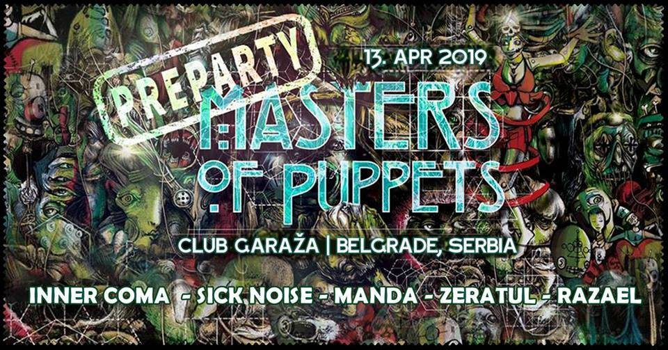 Masters Of Puppets pre-party Belgrade with INNER COMA 13 Apr '19, 23:00