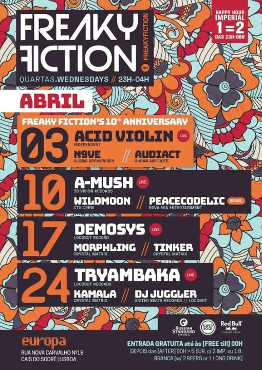 FREAKY FICTION 17 Apr '19, 23:00