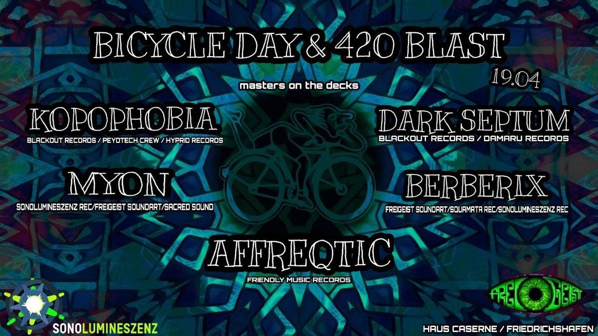 Bicycle Day & 420 Blast w/Kopophobia & Dark Septum 19 Apr '19, 22:00