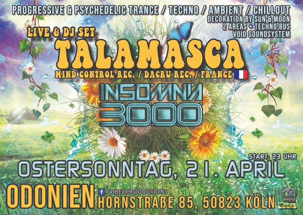 Insomnia 3000 / Easter Spring Season Opening / Talamasca Live 21 Apr '19, 23:00