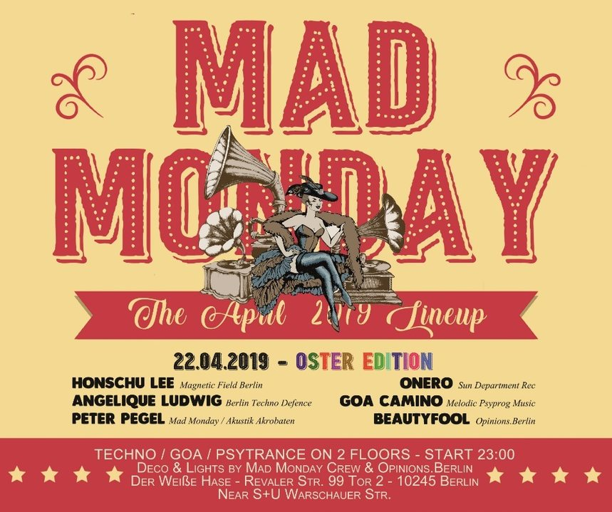 Mad Monday • Oster Edition! 22 Apr '19, 23:00