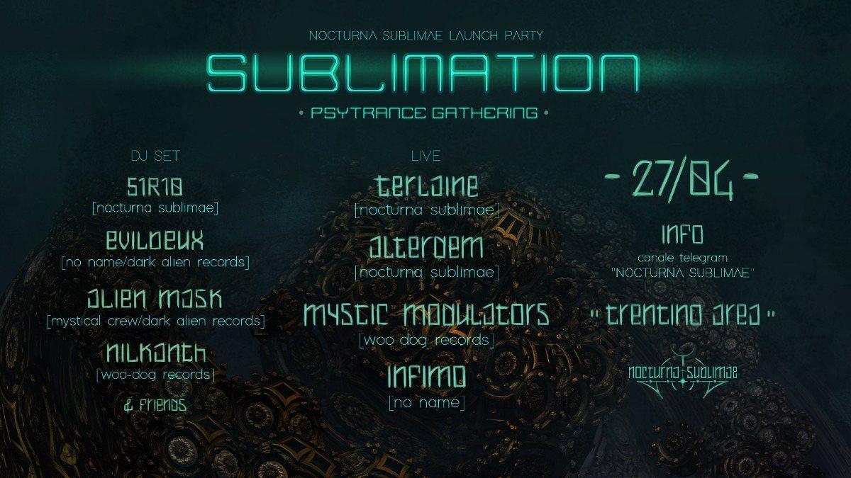 SUBLIMATION - Nocturna Sublimae Launch (Free)Party 1 Jun '19, 22:00