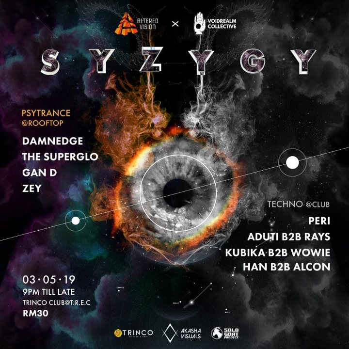 Altered Vision x Voidrealm pres: Syzygy 3 May '19, 21:00