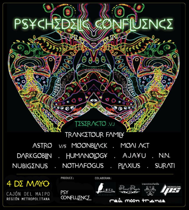 """Psychedelic Confluence """"New Moon Trance"""" 4 May '19, 19:30"""