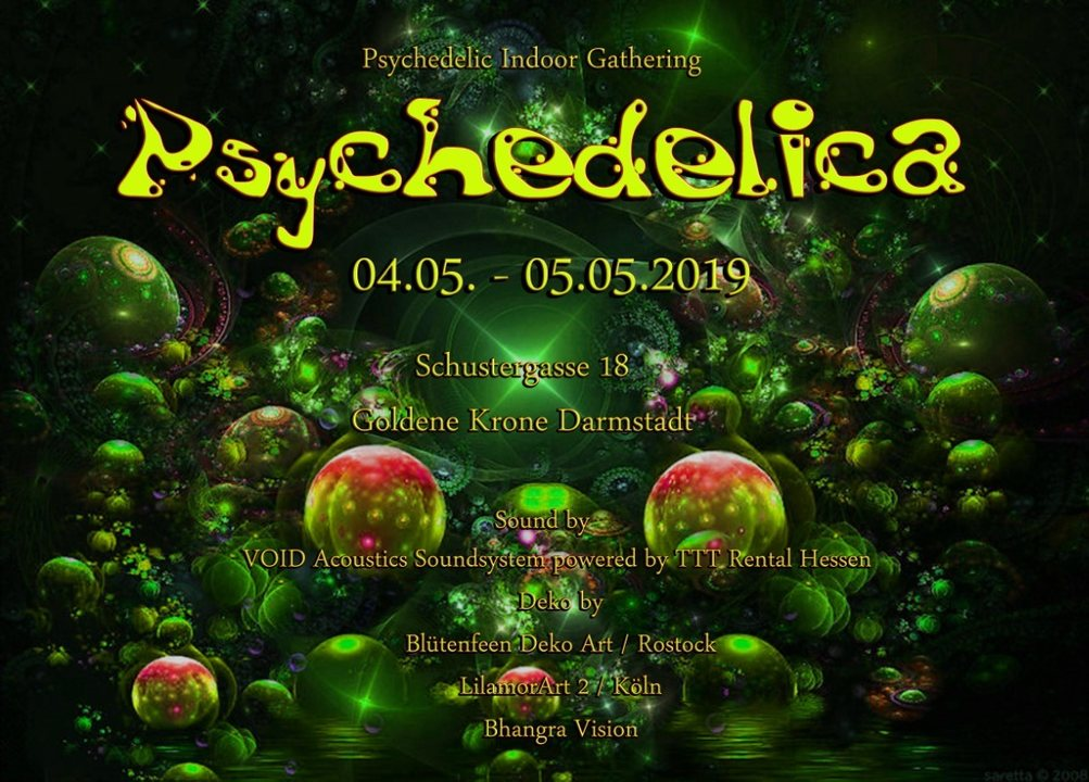 Psychedelica 8 with Datacult Live, Schrittmacher and Tulla 4 May '19, 21:00