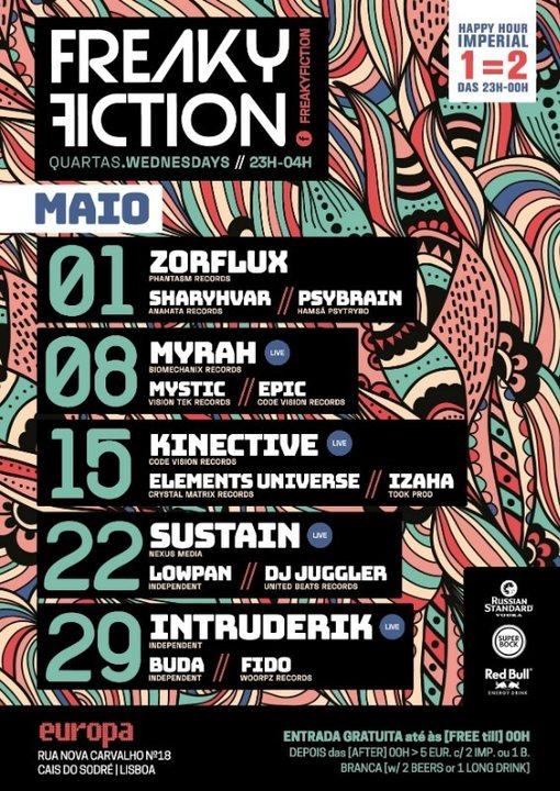 FREAKY FICTION 8 May '19, 23:00