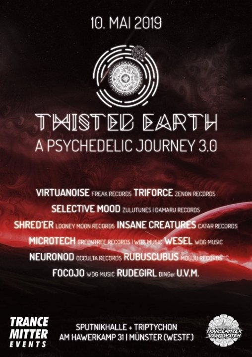 Twisted Earth - A psychedelic journey 10 May '19, 21:00