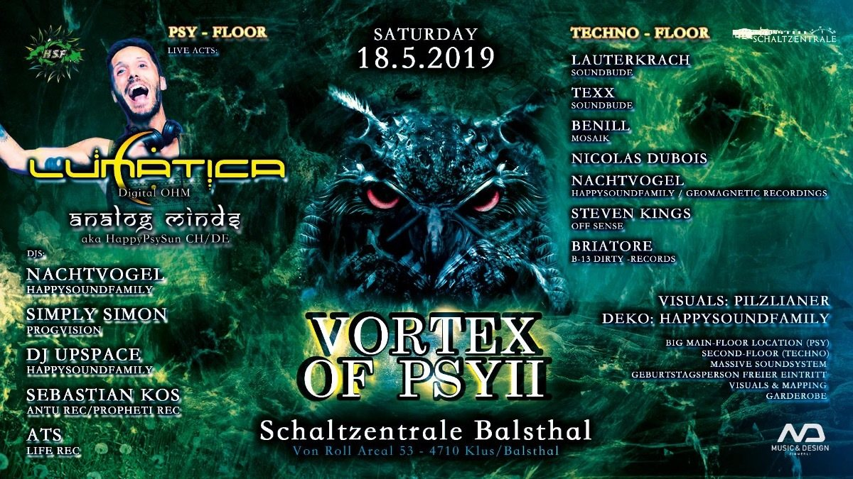 Vortex of Psy 2 /w Lunatica 18 May '19, 22:00