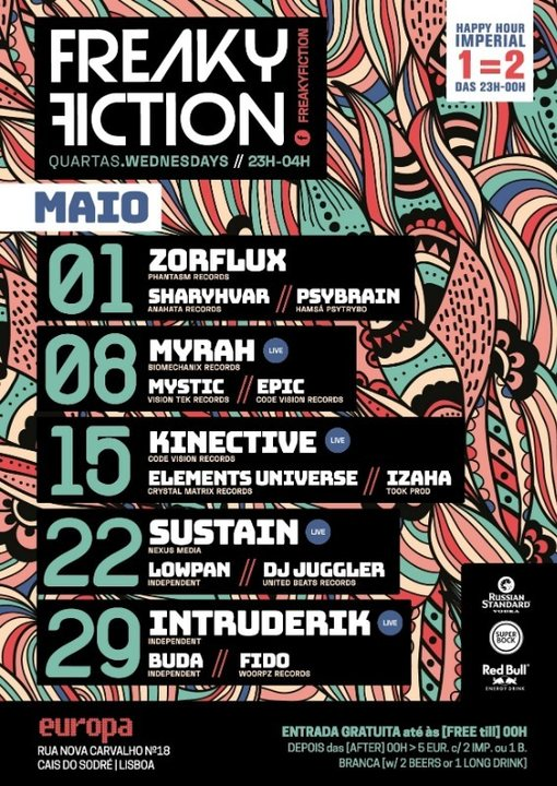 FREAKY FICTION 22 May '19, 23:00