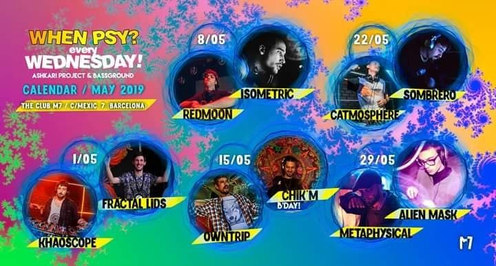 MAYO] When Psy? Wednesday! - Month Calendar 22 May '19, 22:00