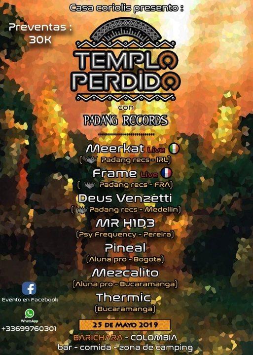 Templo perdido con Padang Records 25 May '19, 20:00