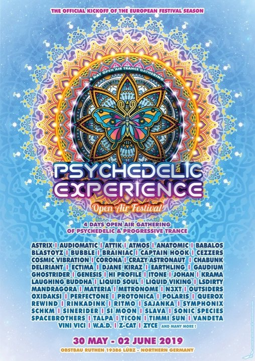 Psychedelic Experience Open Air Festival 2019 30 May '19, 14:00